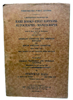 Magnificient Collection of Rare Books, First Editions 1939