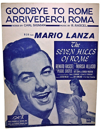 GOODBYE TO ROME with Mario Lanza 1955