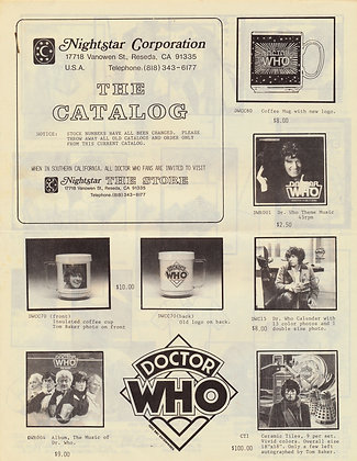 Doctor WHO Nightstar Catalog ca. 1985