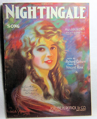 NIGHTINGALE AL JOLSON'S LATEST SONG 1920