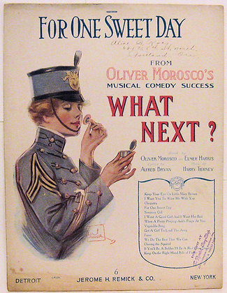 FOR ONE SWEET DAY MOROSCO'S MUSICAL COMEDY 1917