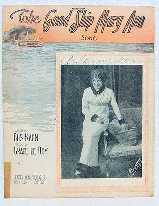 The Good Ship Mary Ann Song 1914