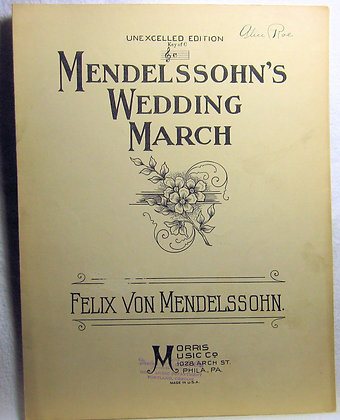 MENDELSSOHN'S WEDDING MARCH 1926