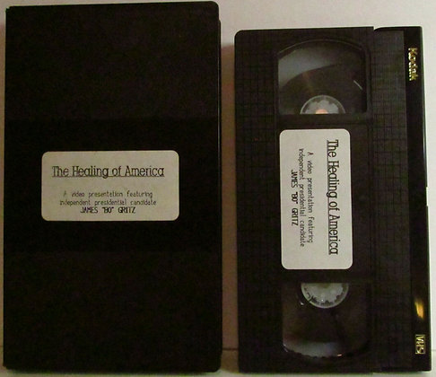 """The Healing of America: James """"Bo"""" Geritz Presidential Candidate VHS"""