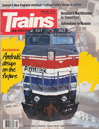 TRAINS, June 1992