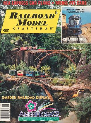 Railroad Model Craftsman, September 1992