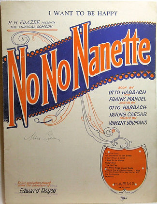 I WANT TO BE HAPPY (No No Nanette) 1924