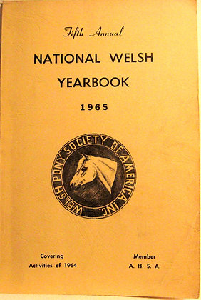 Fifth Annual National Welsh Yearbook 1965