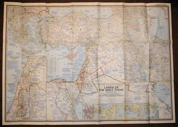 LANDS OF THE BIBLE TODAY (map) 1956