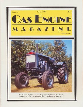 Gas Engine Mag.  February 1992