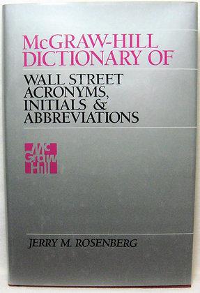 Dictionary of Wall Street Acronyms Rosenberg