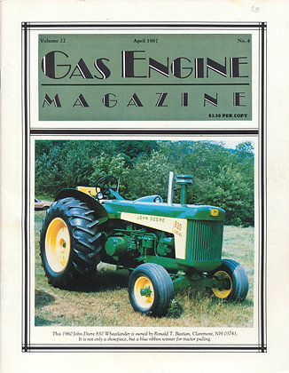 Gas Engine Mag.  April 1987