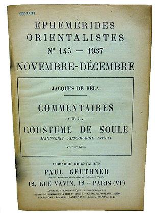 Ephemerides Orientalistes No. 145 - 1937 (French)