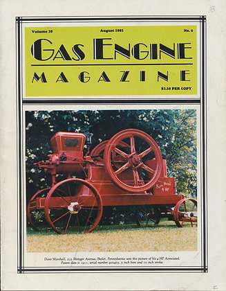 Gas Engine Mag.  August 1985
