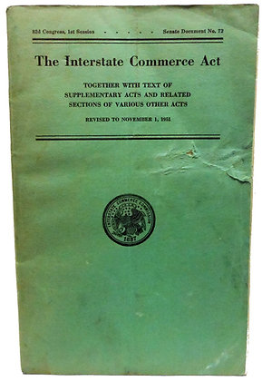 The Interstate Commerce Act Gov. 1951
