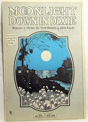 MOONLIGHT DOWN IN DIXIE 1919