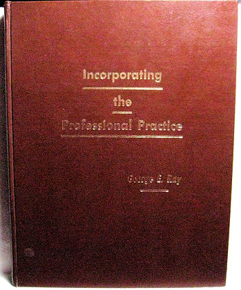 Incorporating the Professional Practice 1972