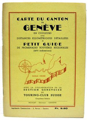 Carte du Canton de Geneve 1967 (French) map & guide book
