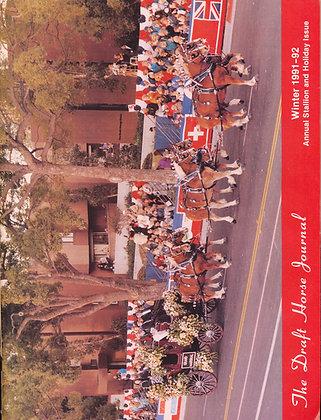 Draft Horse Journal Winter 1991-92