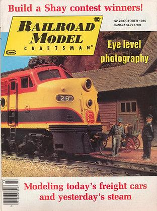 Railroad Model Craftsman, October 1985