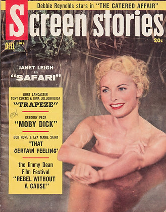 Screen Stories, JANET LEIGH in SAFARI, July 1956