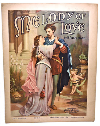 MELODY OF LOVE by Engelmann (Piano Solo) 1903