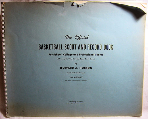 The Official Basketball Scout & Record Book Yale 1948