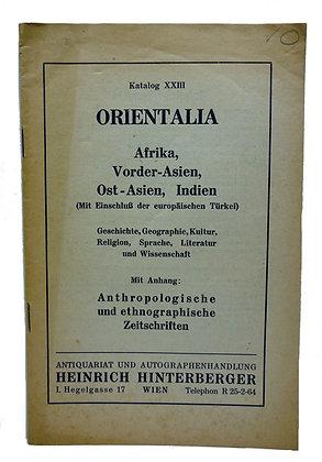 Katalog 23 Orientalia Afrika Vorder-Asien (German)