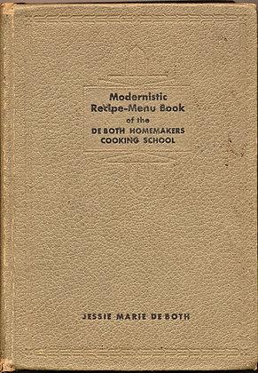 Modernistic Recipe-Menu Book 1929