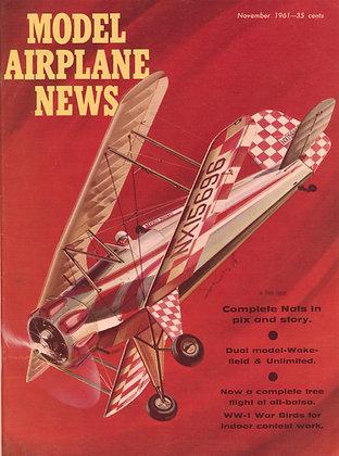 "Model Airplane News (Nov. 1961) ""Jungmeister"""