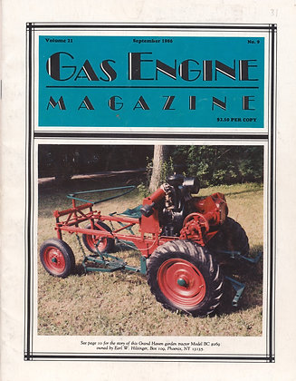 Gas Engine Mag.  September 1986