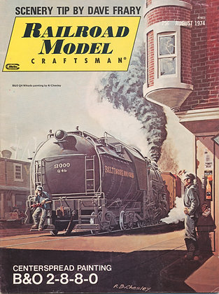 Railroad Model Craftsman, August 1974