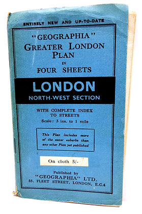 Geographia London North-West Map