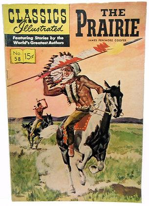 THE PRAIRIE, No. 58, Classics Illustrated, April 1949