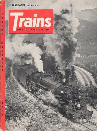 TRAINS, September 1955