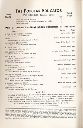 POPULAR EDUCATOR (#17 Third Year 1940) OUTLINE OF SCIENCE