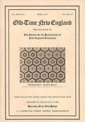 Old-Time New England April 1927
