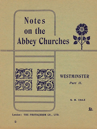 Notes on the Abbey Churches #2 London