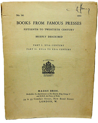 Books from Famous Presses 1931