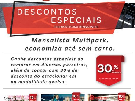 Mensalista Multipark economiza até sem carro.