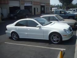 An E-350 that we tinted and replaced the windshield on