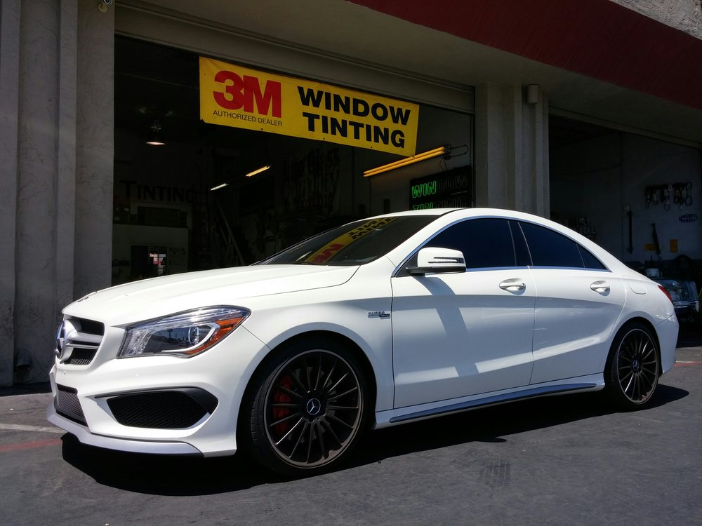 Mercedes CLA45 AMG 360hp turbo charged goodness just got better with our 3M CS film all around