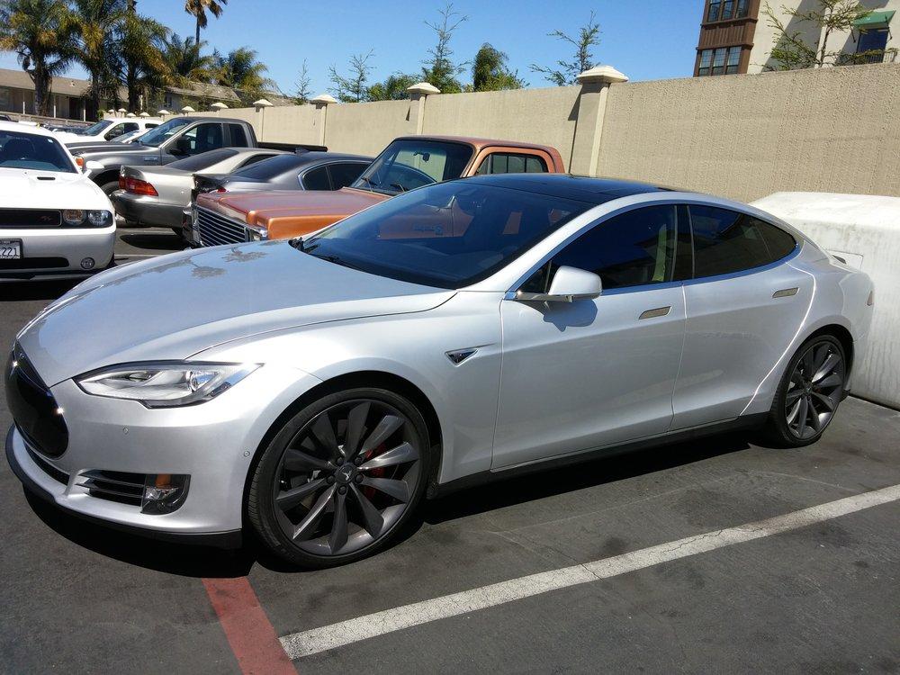 Tesla P85D in for full 3M Crystalline install