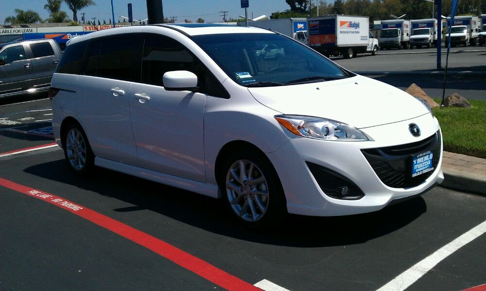 Dealership to shop, new Mazda 5 sporting 20% tint