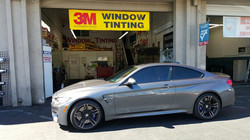 BMW M4 all the way from SF to experience our 3M film
