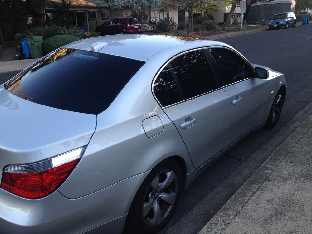2005 530i. 20% 3M tint on front doors and 5% on the back