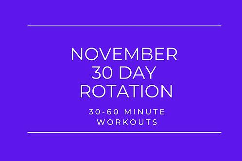 NOVEMBER 2020 -30 DAY WORKOUT PROGRAM