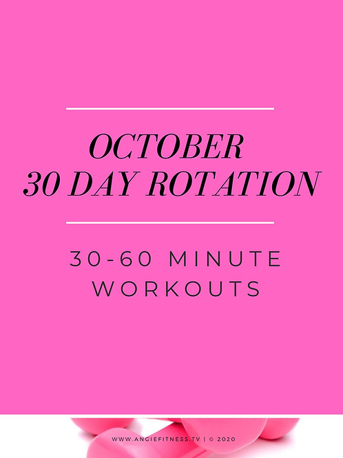 OCTOBER 2020 -30 DAY WORKOUT PROGRAM