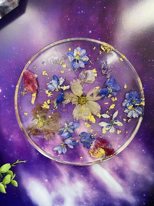 Amethyst Crystal Floating Flower Coaster