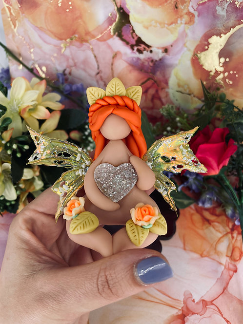Yellow Wings of Love - Mini Forest Fairy